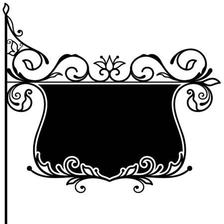 Ornate decorative board Vector