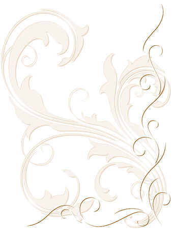 Abstract backdrop with swirly decoration Illustration