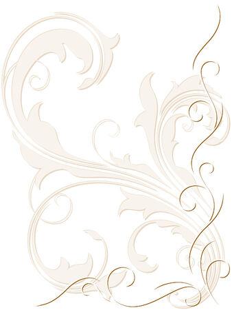 silueta: Abstract backdrop with swirly decoration Illustration