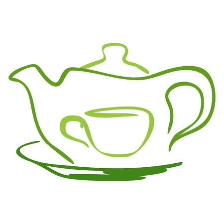 tableware: Stylized tea icon