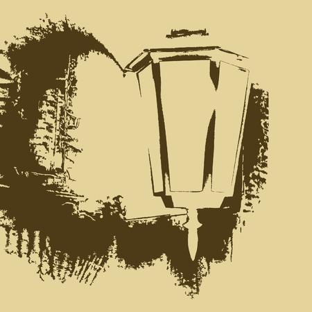silueta: Street lamp Illustration