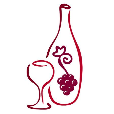 weingläser: Stilisierte Wein-Symbol