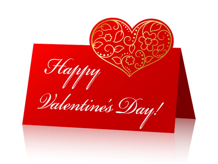 Card for Valentines Day. Vector Vector
