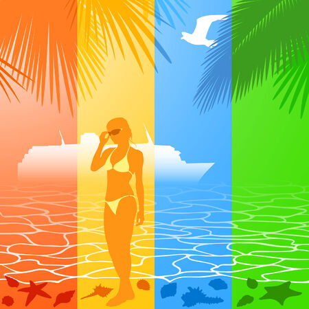 Summer holiday banners Stock Vector - 8549077