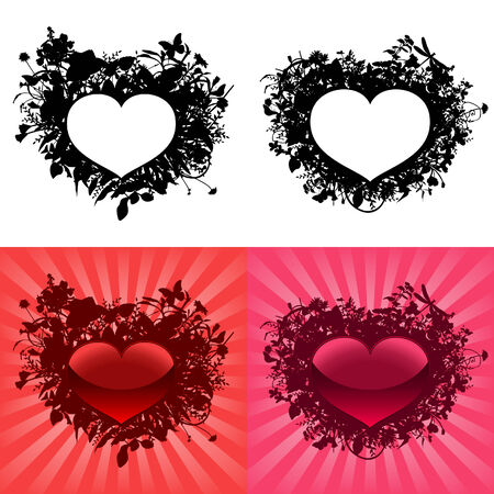 Hearts for Valentines Day. Vector Vector