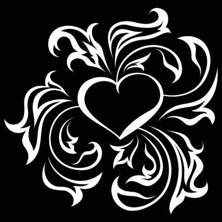 corazones: Ornate heart Illustration