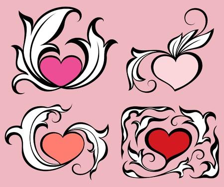 corazones: Abstract hearts