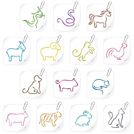 Chinese horoscope icons 1