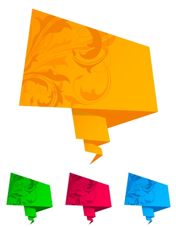 Paper origami speech bubble Vector