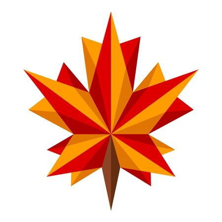 Origami maple leaf Vector