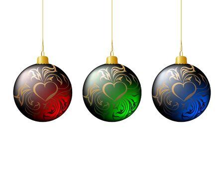 Christmas tree balls Stock Vector - 10399669