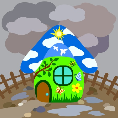cloudy home: Sweet home Illustration