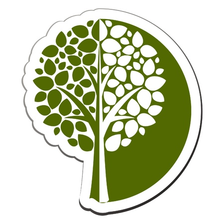 tree logo: Vector tree emblem 1