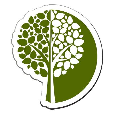 logo ecology: Vector tree emblem 1