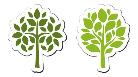 Vector tree emblem 2 Vektorové ilustrace