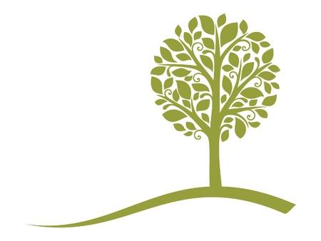 hojas de arbol: Emblema de árbol de vector 4 Vectores