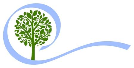 icono ecologico: Vector del �rbol emblema de 5