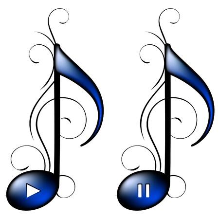 music lyrics: Icono de la música (play, pause)