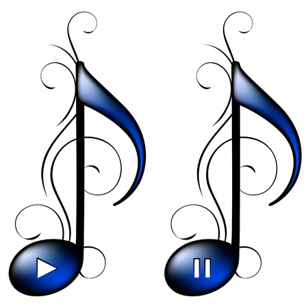 Music icon (play, pause) Stock Vector - 10433163
