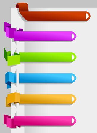 pesta�as: Etiquetas de papel