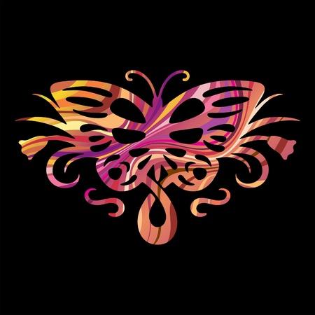 silueta: Rainbow butterfly 1 Illustration