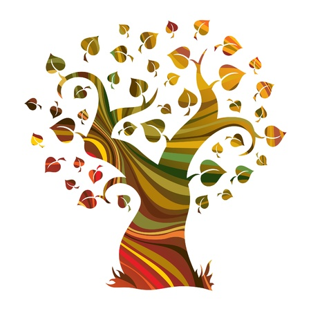 природа: Многоцветный абстрактные дерево 1