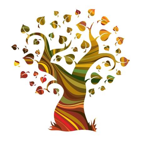 příroda: Multicolor abstraktní strom 1
