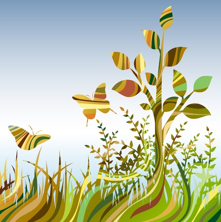 Multicolour abstract landscare