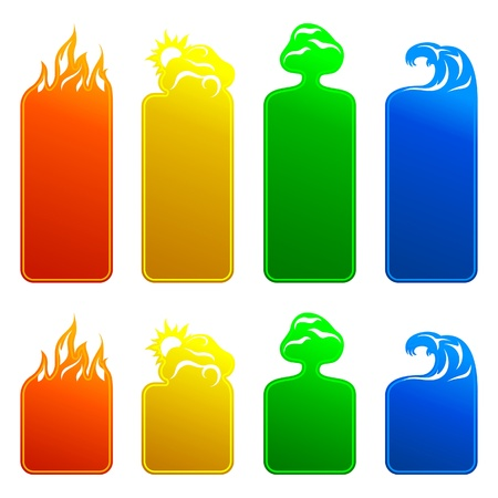 fire water: Banners 4 elements