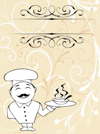 waiter tray: Chef menu