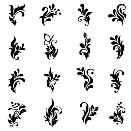 Swirly design elements 2 Vector