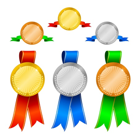 Medals set 1 Vector