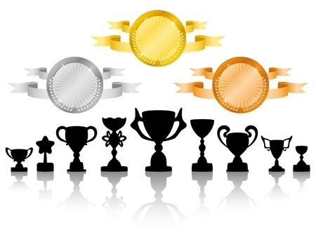 premios: Medallas del grupo 2 Vectores