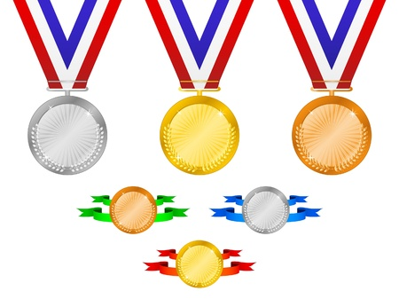 gold silver bronze: Medals set 3