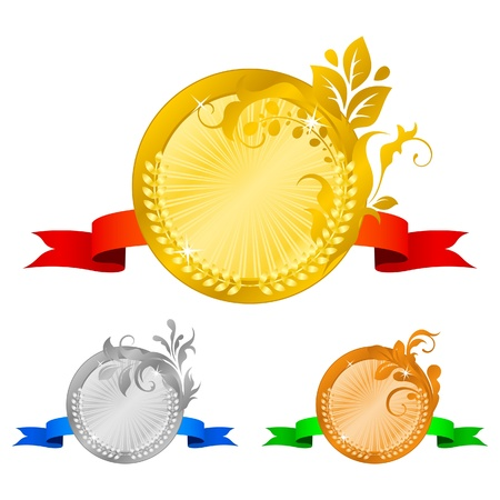 Medals set 4 Vector