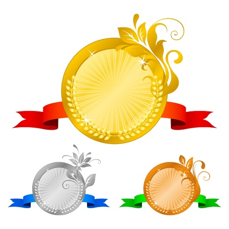 Medals set 5 Vector