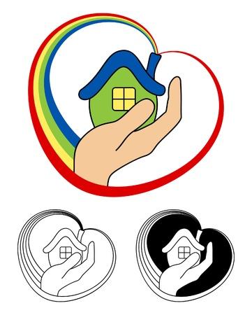 wees: Klein huis Stock Illustratie