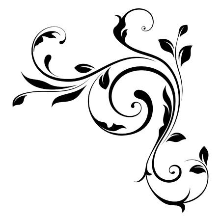 esquineros florales: Elemento de dise�o Vectores