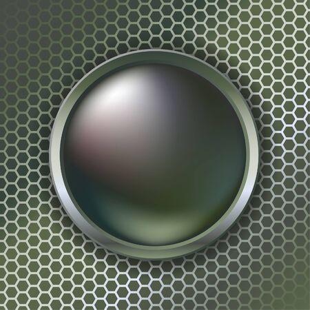 hight tech: Metallic web button Illustration