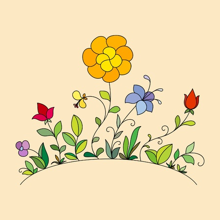 posy: Hand drawn flowers