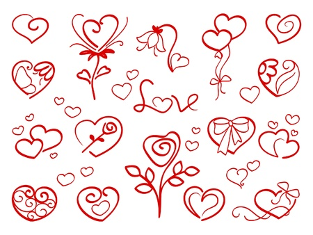 corazones: Hand drawn haerts 1