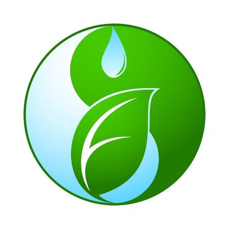 yin et yang: Yin Yang, la vie et l'eau Illustration