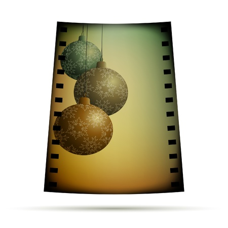 lomography: Negative film with xmas balls