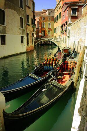 Gondolas in Venice photo