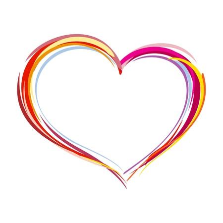 love heart: Painted heart Illustration