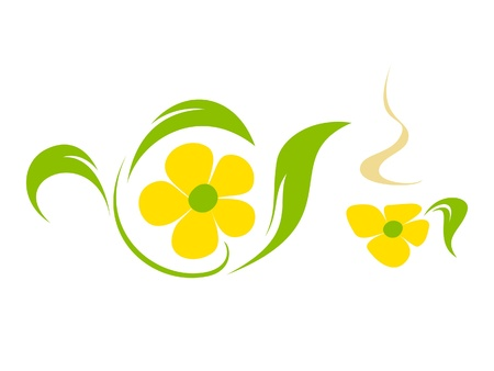 Flower tea Vector