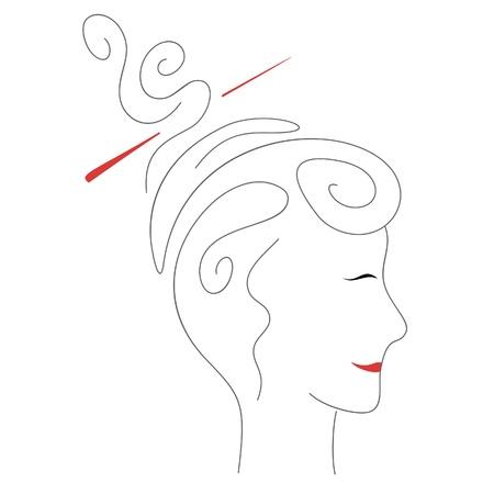 Woman portrait Vektorové ilustrace