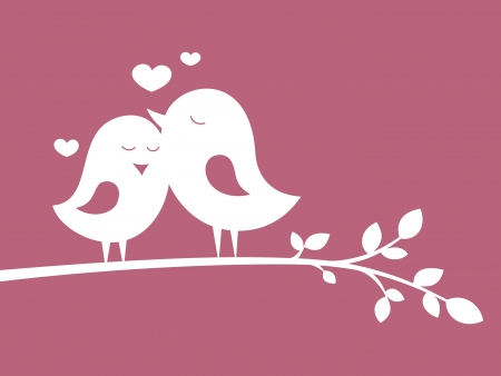 Birds in love 1 Vector