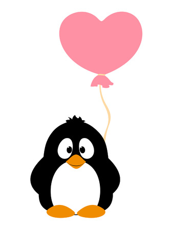 Penguin with balloon Stock Vector - 25317070