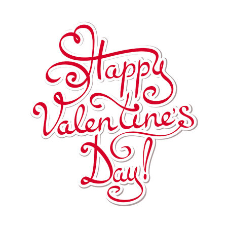 Happy Valentines day - hand lettering text Vector